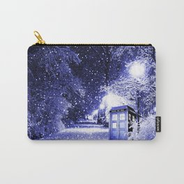 The Winter Tardis Carry-All Pouch