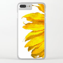 Simply a sunflower Clear iPhone Case