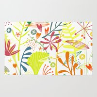 tropical Area & Throw Rugs featuring Tropical by Nic Squirrell