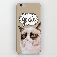 grumpy iPhone & iPod Skins featuring Grumpy by Liffy Designs