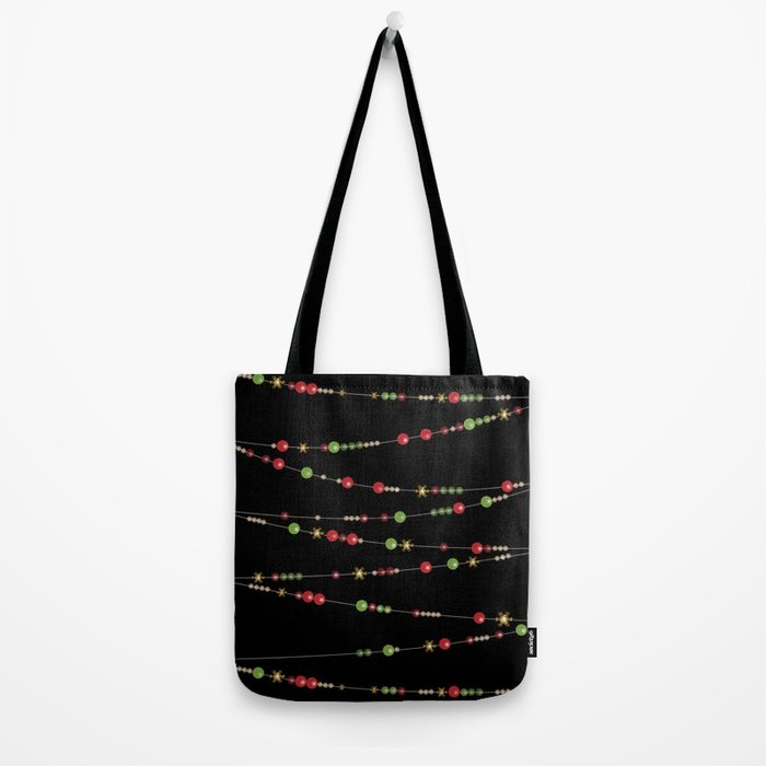 Merry Christmas . Beads Decoration . Tote Bag