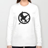 mockingjay Long Sleeve T-shirts featuring The MockingJay  by Lauren Lee Design's