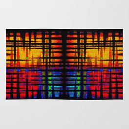 Abstract Tri Colors - Square Rug
