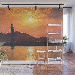 Lighthouse Evening Art Wall Mural