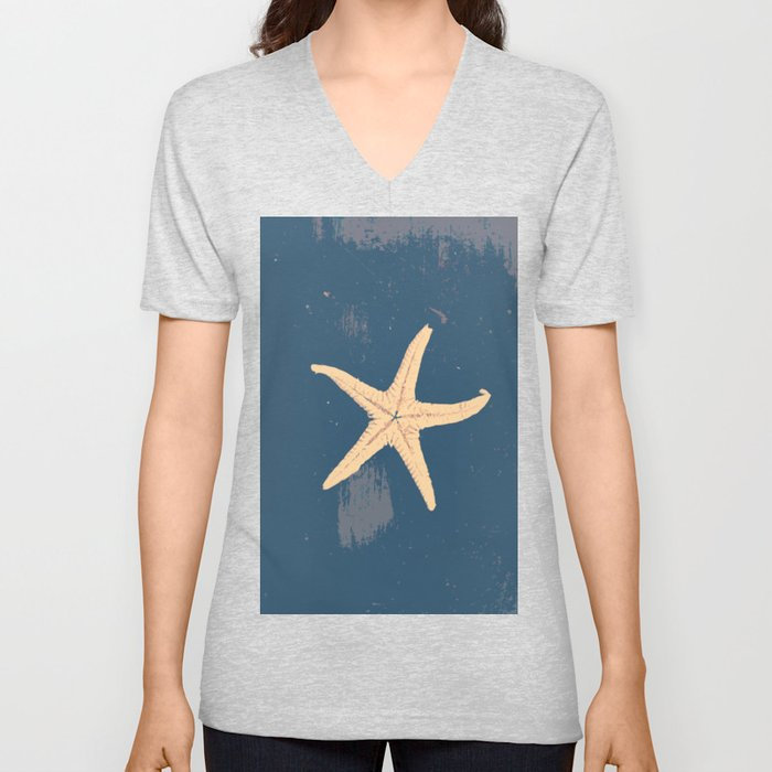 blue seashell Unisex V-Neck