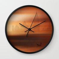 venice Wall Clocks featuring Venice by Fine2art