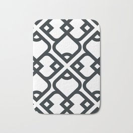 Black and White Pattern Bath Mat