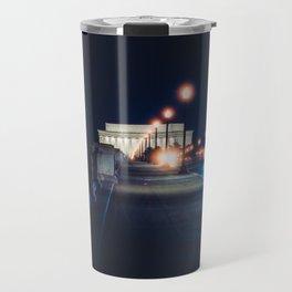 Memorial Bridge To Lincoln Memorial Travel Mug