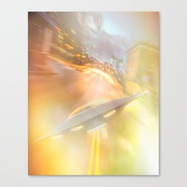 Downtown UFO Canvas Print