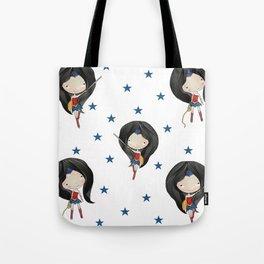 Wondergirl super cute super heroes Tote Bag