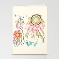 dream catcher Stationery Cards featuring Dream Catcher by famenxt