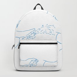 Hand Popping Champagne Sequence Drawing Backpack