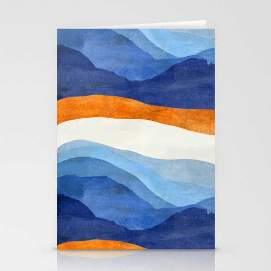 Mountains in the Morning Stationery Cards