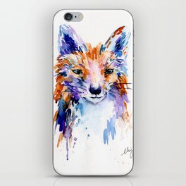 Watercolor Abstract Fox Portrait iPhone Skin
