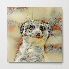 Animal ArtStudio -awesome Meerkat Metal Print
