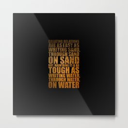 "Creating Relations are... ""Mrlyn Mnroe"" Life Inspirational Quote Metal Print"