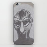 mf doom iPhone & iPod Skins featuring MF Doom by Ous Art