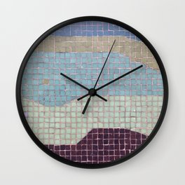Downtown Mall / Fulton Mall / Mosaic Bench 03 Wall Clock