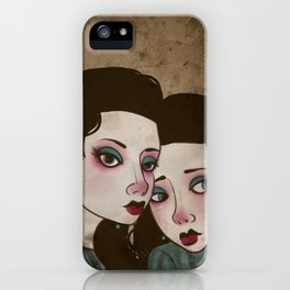 Twin Princesses iPhone Case
