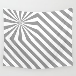 Stripes explosion - Grey Wall Tapestry