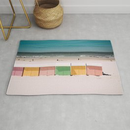 Beach Cabins North Sea Rug