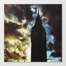 Big Ben up in the clouds Canvas Print