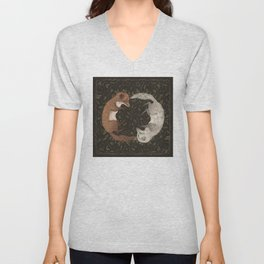 Foxes Unisex V-Neck