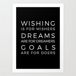Wishing, Dreams, Goals Art Print