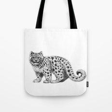 Snow Leopard cub g142 Tote Bag