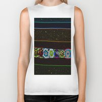 starry night Biker Tanks featuring Starry Starry Night by Lior Blum