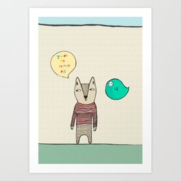 You are my bestest pal old pal Art Print