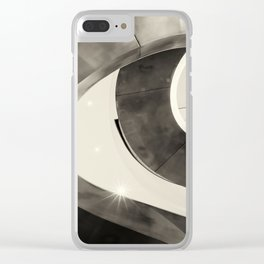 Metal Spiral Staircase London Clear iPhone Case