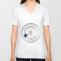chicago bulls V-neck T-shirts featuring Bulls Eye by Nivedhna