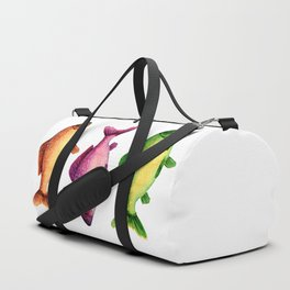 Three vibrant fishes Duffle Bag