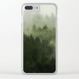 Drift - Green Mountain Forest Clear iPhone Case