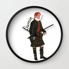 Jamie Fraser (Outlander) Wall Clock