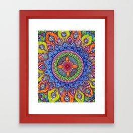 Mardi Gras Mandala Framed Art Print
