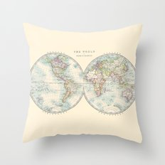 Hemispheres Throw Pillow