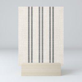 AEGEAN GREY STRIPE Mini Art Print