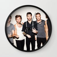 one direction Wall Clocks featuring One Direction by Max Jones