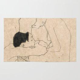 "Egon Schiele ""Lovers"" Rug"