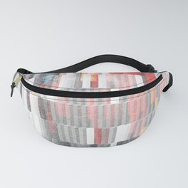 Vibrant Graffity on Black and White Geometry Fanny Pack