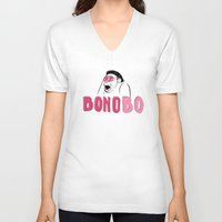 u2 V-neck T-shirts featuring BONObo by Adrienne S. Price
