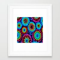 tie dye Framed Art Prints featuring Tie Dye by gypsykissphotography