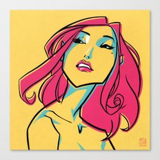 CMYK GIRL Canvas Print
