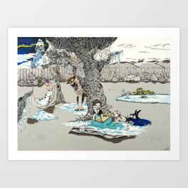 Books Coming to Life: Frozen Art Print