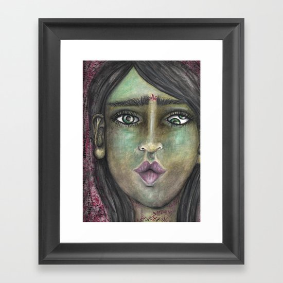 Double Eye Framed Art Print