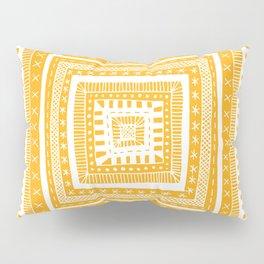 bright orange patterned square Pillow Sham