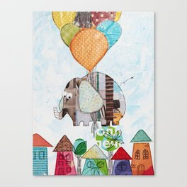 The elephant over the city Canvas Print