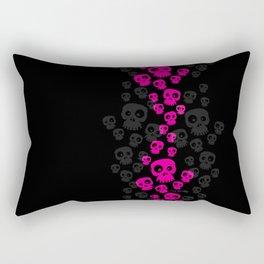 Skulls Fun - pink/black Rectangular Pillow